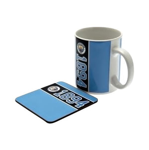Manchester City F.C. Mug & Coaster Set - AOT Sports
