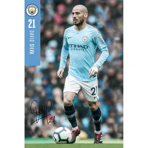Manchester City F.C. Poster Silva 27 - AOT Sports