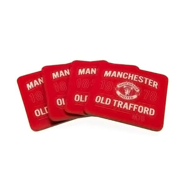 Manchester United F.C. 4pk Coaster Set - AOT Sports