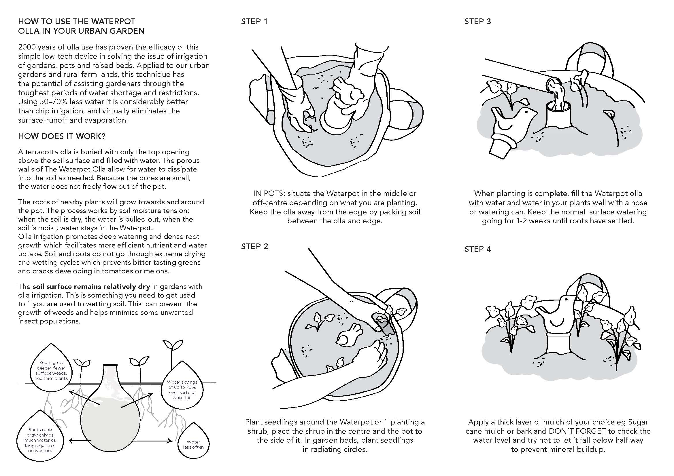 Waterpot Olla Instructions Page 2