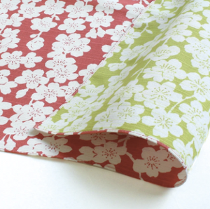 The Isa Monyo Reversible Weepting Cherry Tree Furoshiki Collection