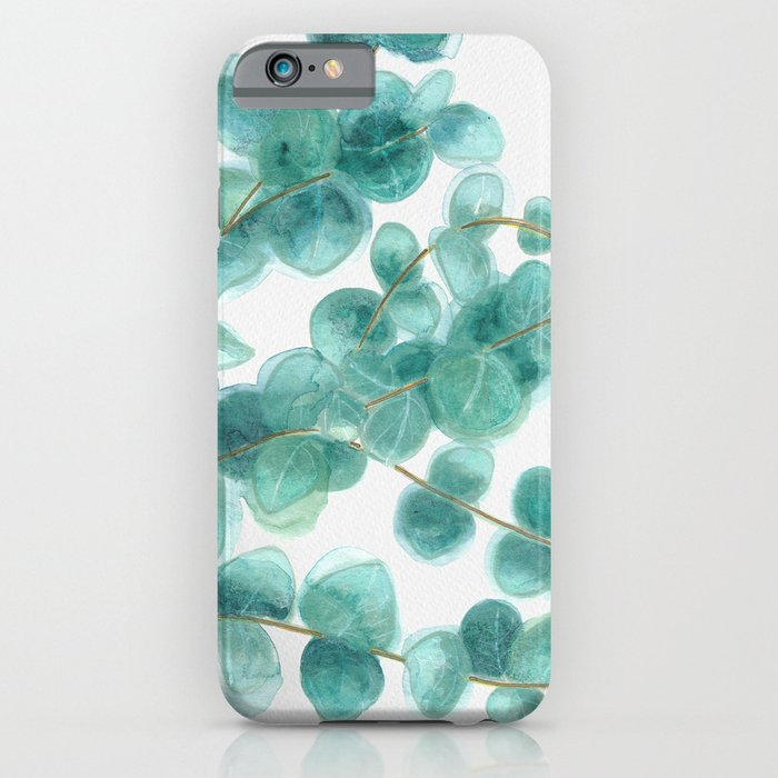 Eucalyptus branch, Sweet branch of eucalyptus, watercolor, aquarelle, Phone Case
