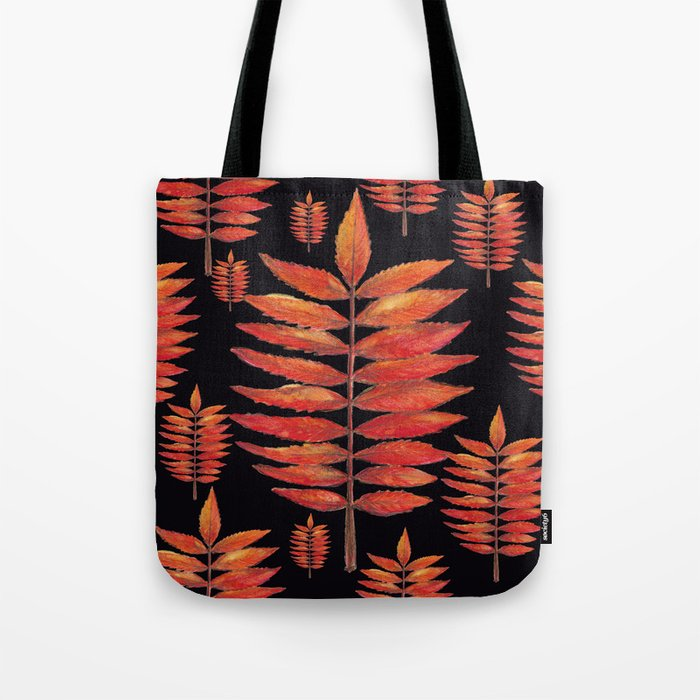 Staghorn sumac, Tote bag, illustration, Sumac Vinaigrier, watercolor, aquarelle, Home decor, wall art