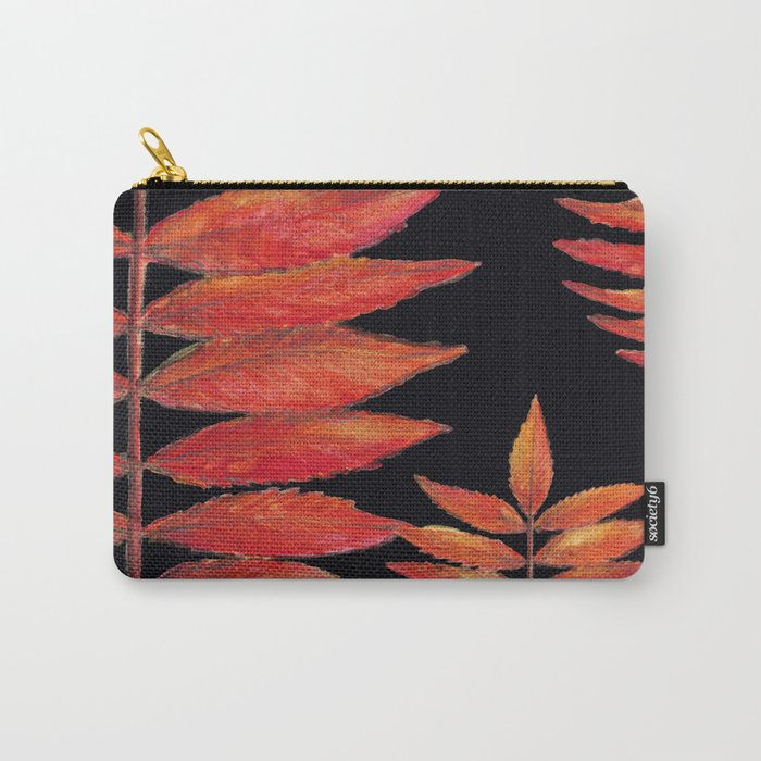 Staghorn sumac,pouches, illustration, Sumac Vinaigrier, watercolor, aquarelle, Home decor, wall art