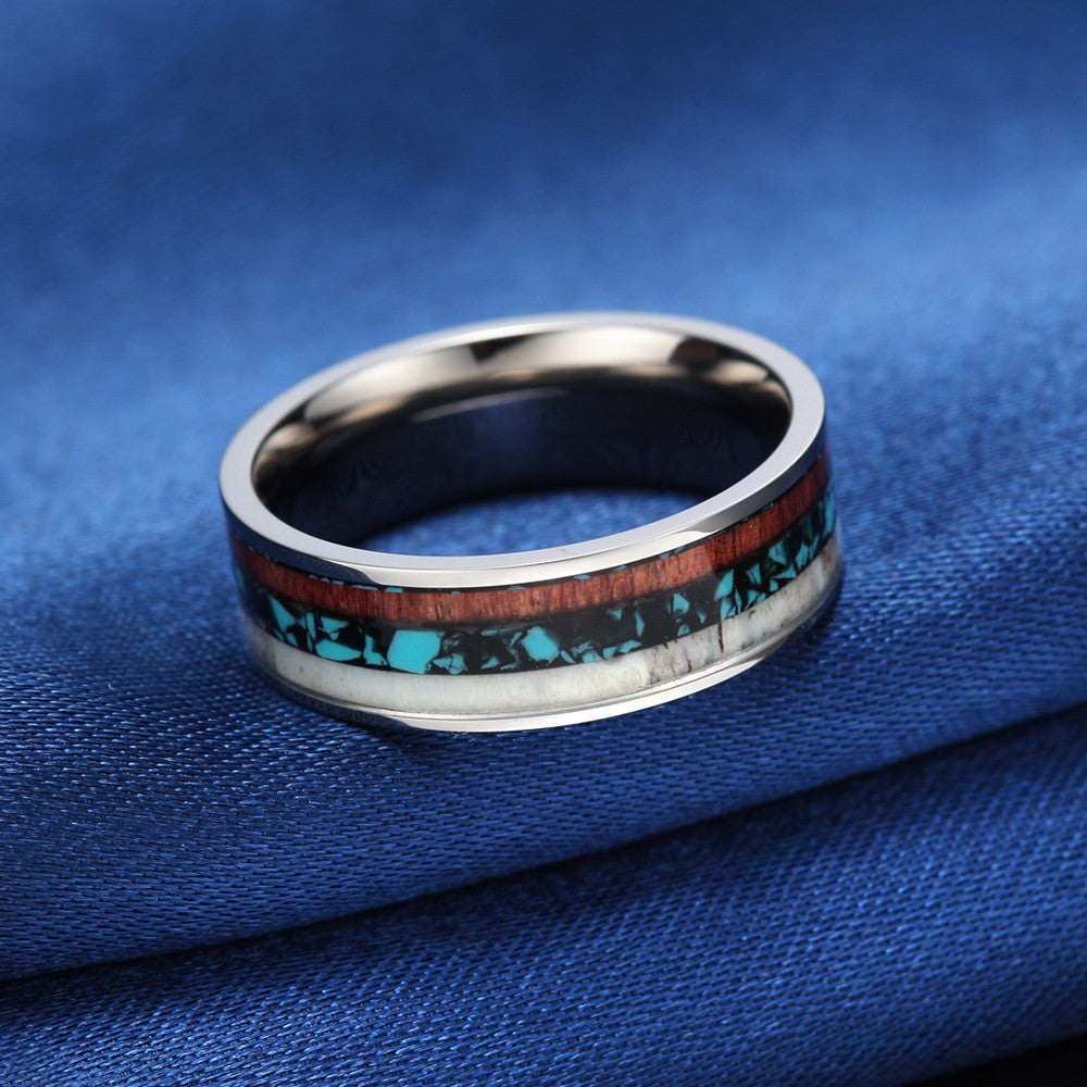 Layered Titanium Wood Ring