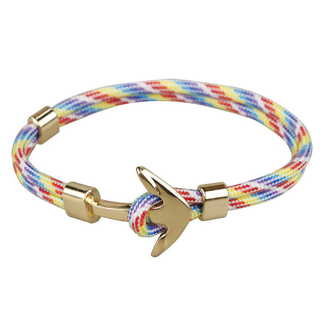 Multicolor Unshakable Anchor Rope Bracelet