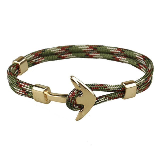 Army Unshakable Anchor Rope Bracelet
