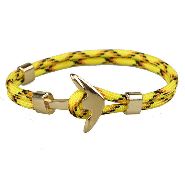 Yellow Unshakable Anchor Rope Bracelet