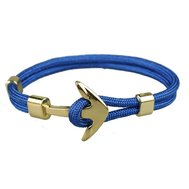 Blue Unshakable Anchor Rope Bracelet