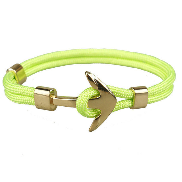 Lime Unshakable Anchor Rope Bracelet