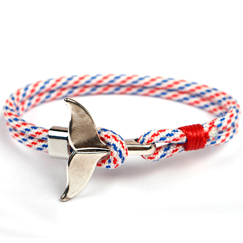 Red & Blue Unshakable Anchor Rope Bracelet