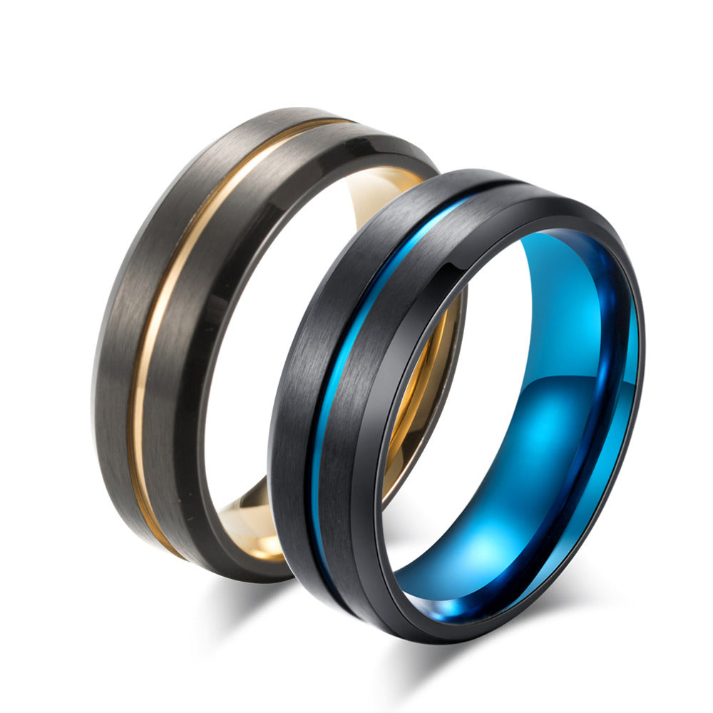 Titanium Blue/Gold Ring