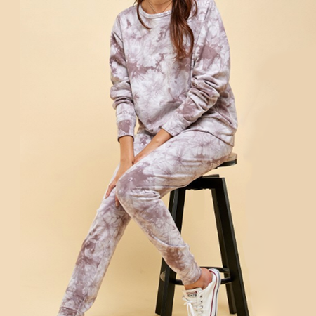 COTTON TIE-DYE DISTRESSED JOGGER SETS (Available in 2 Colors!)