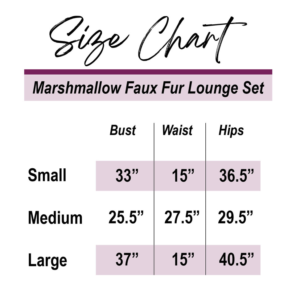 Toasted Marshmallow Faux Fur Lounge Set (Available In 4 Colors!)