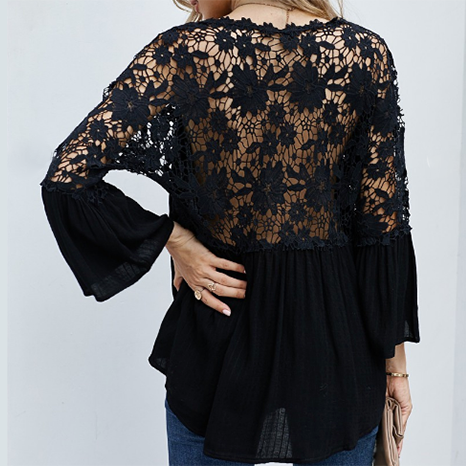 Heavenly Crochet Lace Button Top (Available in 2 Colors!)