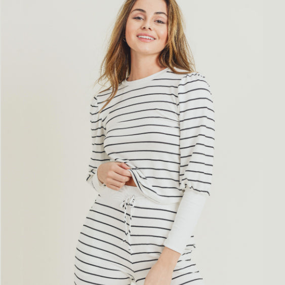 Pretty Little Striped PJ Set (Available in 2 Colors)