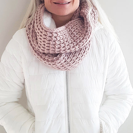 Sherpa Lined Infinity Scarf