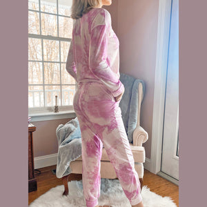 Wrap Me Up In Tie-Dye Pajama Jogger Set
