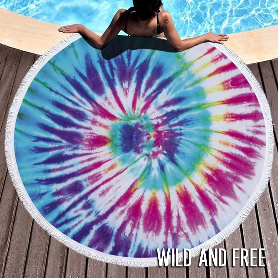 Peace, Love & Tie-Dye Towel