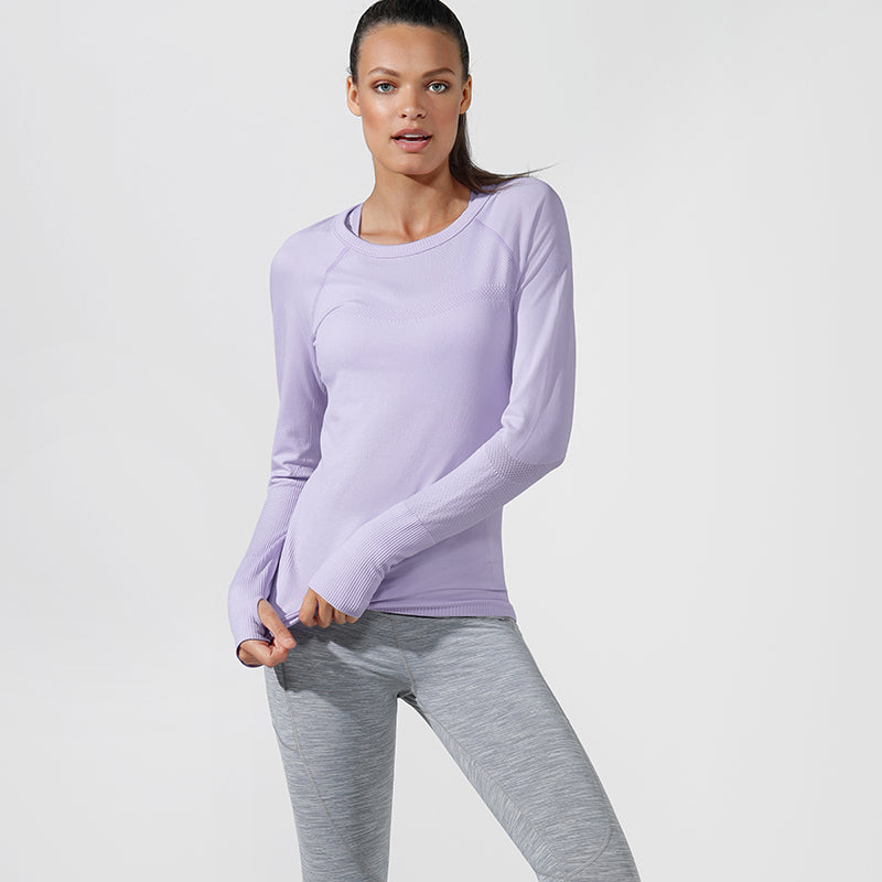 Lorna Jane Seamless Long Sleeved Top - Lilac - SKULPT Dublin