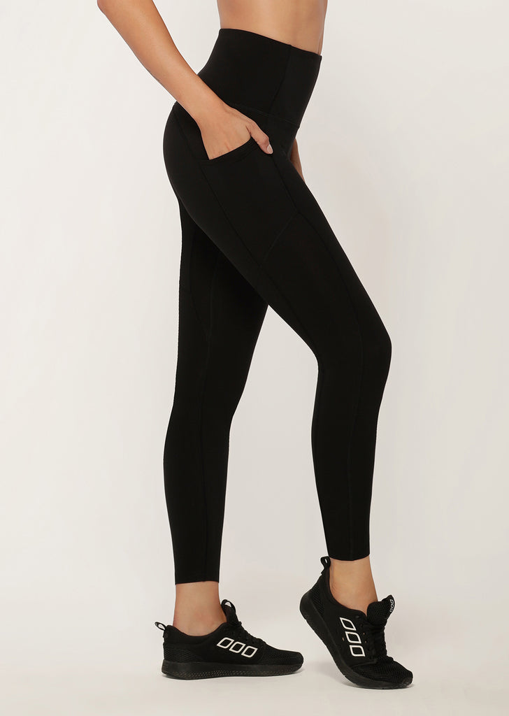 Lorna Jane - Side Pockets No Ride Booty Full Length - Black - SKULPT Dublin