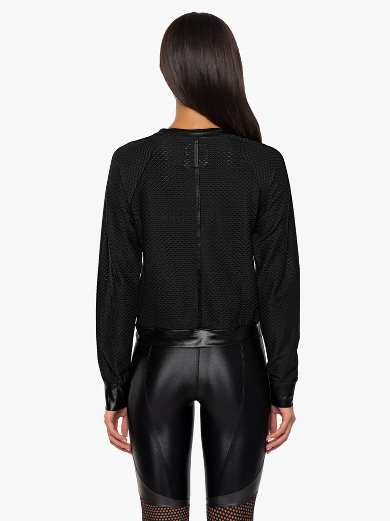 Koral - Sofia Long Sleeved Jumper - Black - SKULPT Dublin