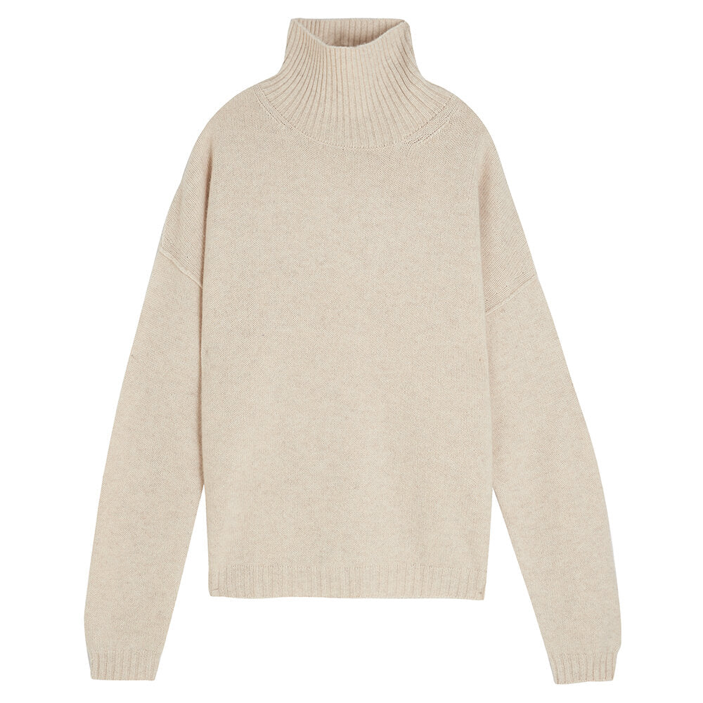 Jumper1234 Cashmere Roll Top Jumper - Cream - SKULPT Dublin