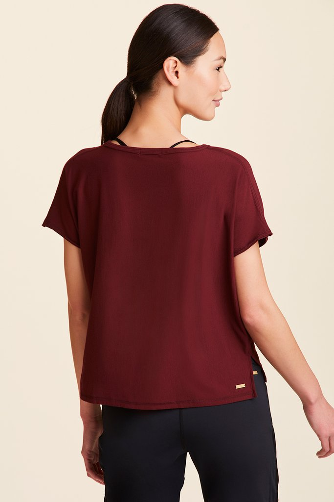 Alala Breakers Short Sleeved Tee - Wine - SKULPT Dublin