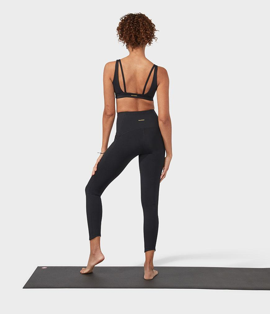 Manduka High Rise Phone Pocket Leggings - Black - SKULPT Dublin