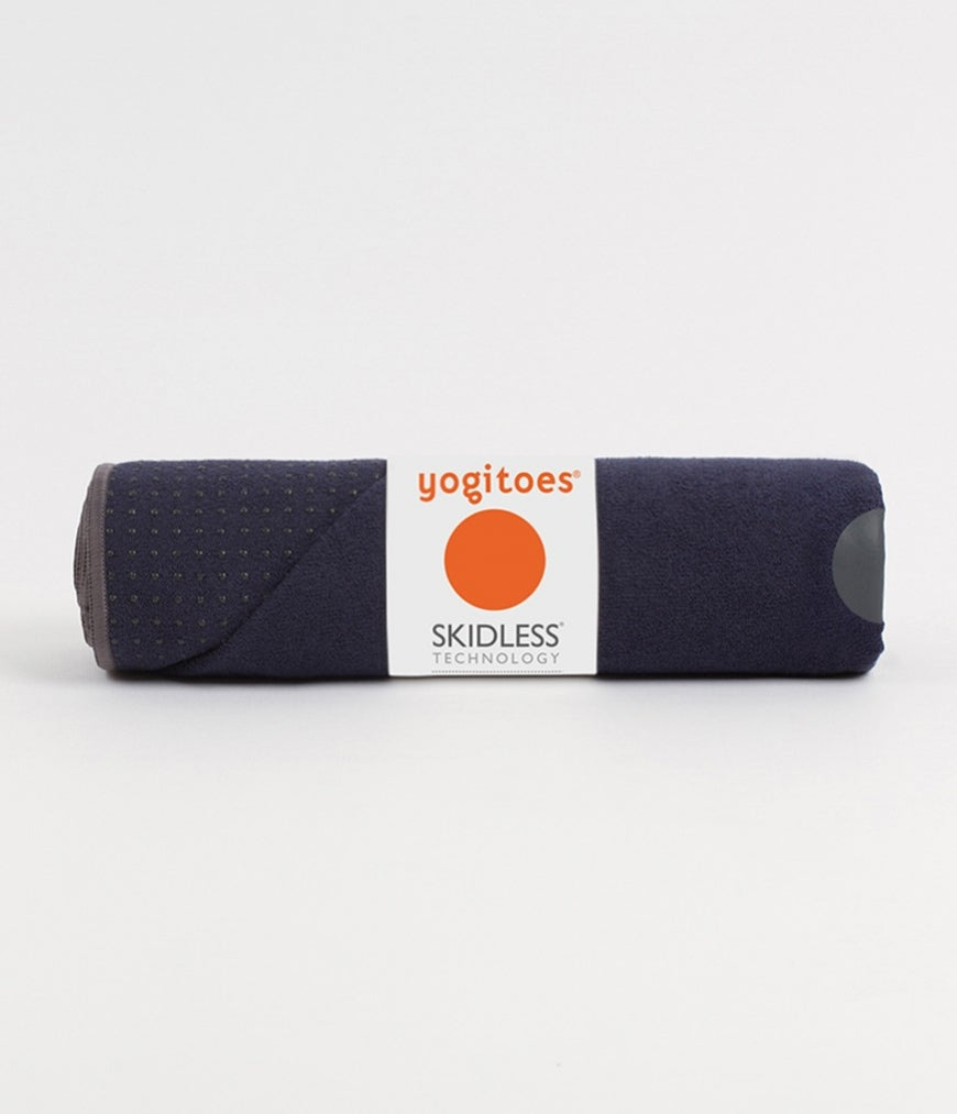 Manduka YogiToes Large Skidless Towel - Navy & Grey - SKULPT Dublin