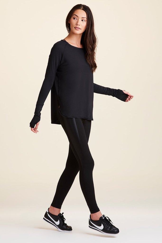 Alala Fractal Long Sleeved Tee - Black - SKULPT Dublin