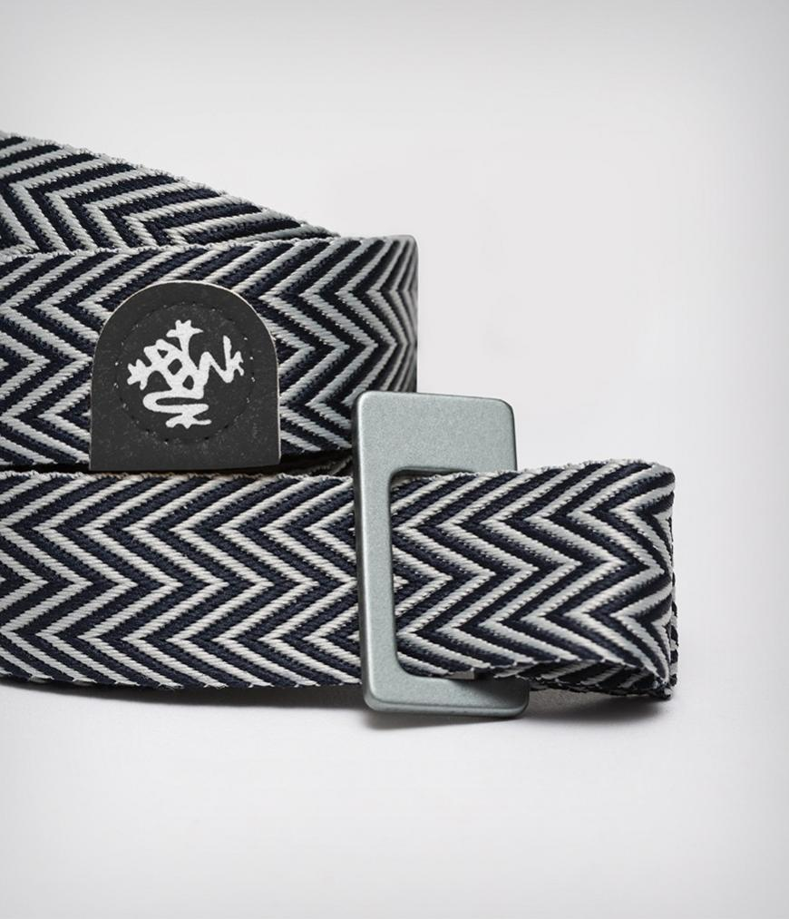 Manduka Yoga Mat Carrier - Black/White - SKULPT Dublin