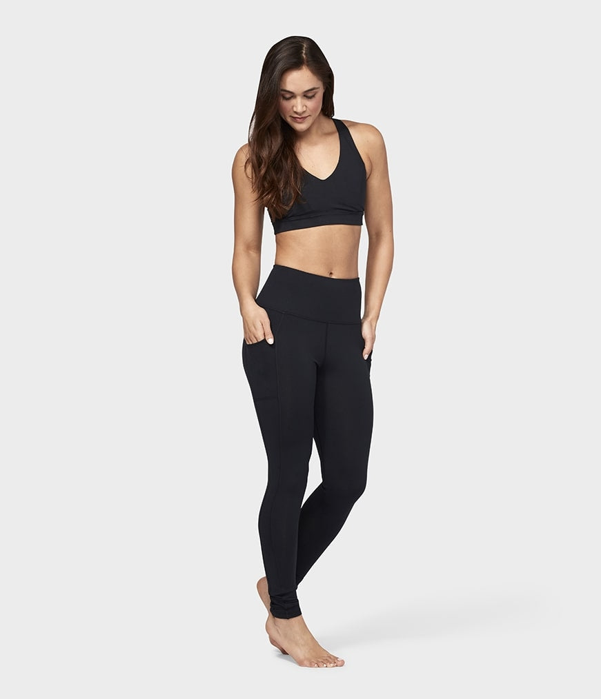 Manduka High Rise Pocket Leggings - Black - SKULPT Dublin