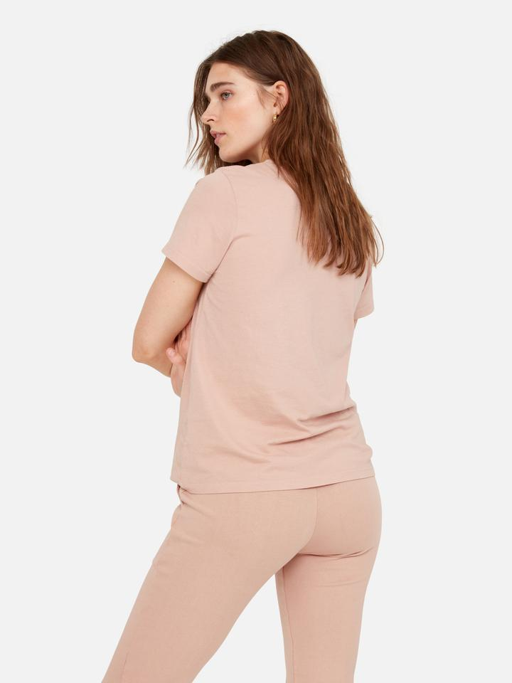 MATE Classic Crew Short Sleeved Tee - Dusty Pink - SKULPT Dublin