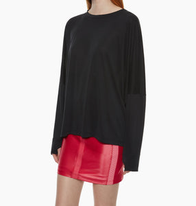 Koral Long Sleeved Cupro Tee - Black