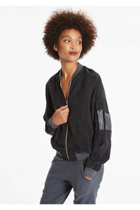 Hard Tail Bomber Jacket - Earl Grey