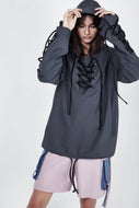 Charli Cohen Windbreaker - Blue Grey