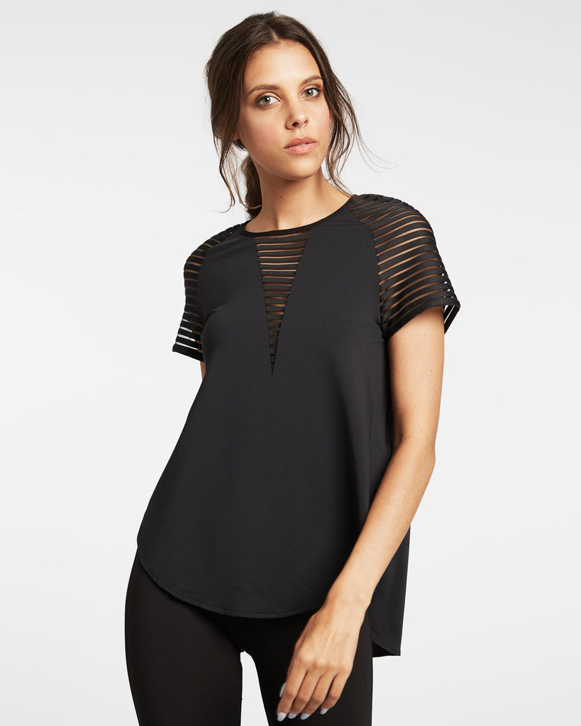 Michi Descent Short Sleeved Top - Black - SKULPT Dublin