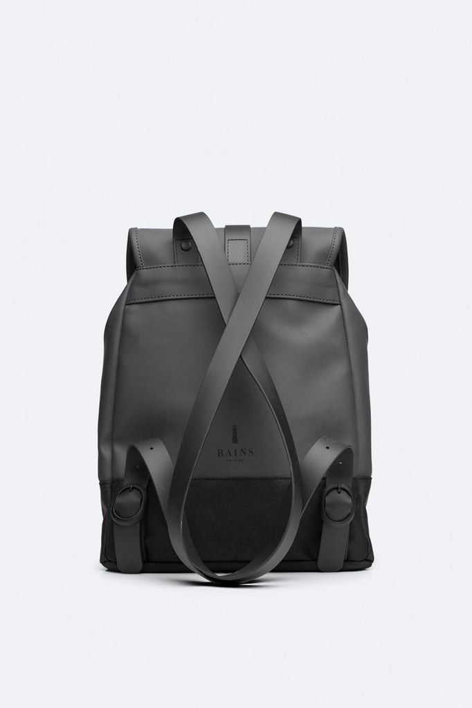 Rains City Waterproof Drawstring Rucksack - Black - SKULPT Dublin
