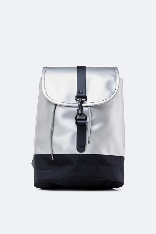 Rains City Waterproof Drawstring Rucksack - Silver - SKULPT Dublin