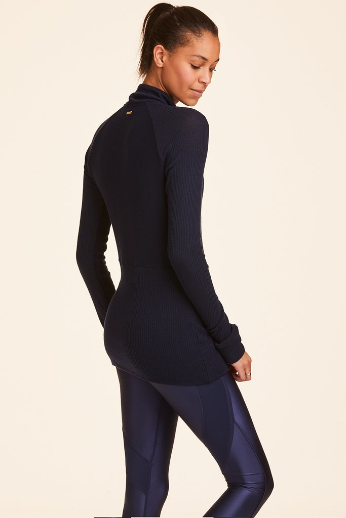 Alala Long Sleeved Half Zip Top  - Navy - SKULPT Dublin