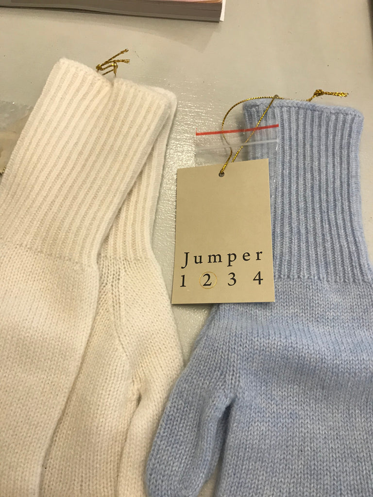 Cashmere Gloves - Ribbed Wrist - Baby Blue - SKULPT Dublin
