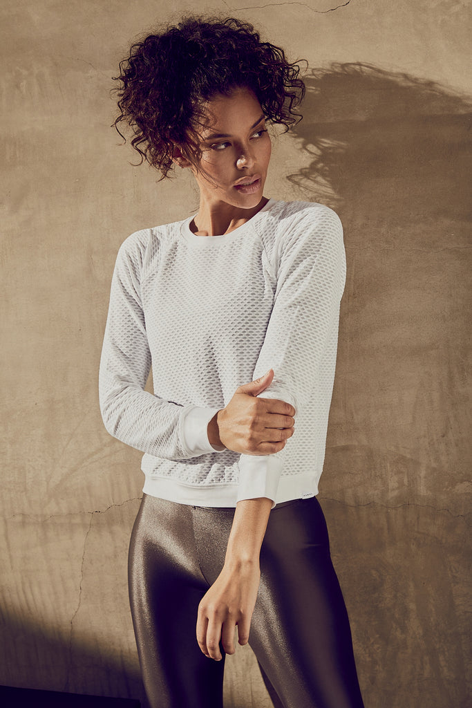Koral Sofia Long Sleeved Jumper - White - SKULPT Dublin