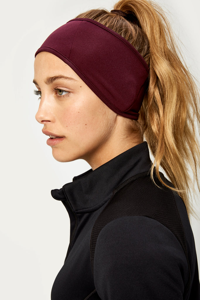 Stretch Fleece HeadBand - Mulberry - SKULPT Dublin
