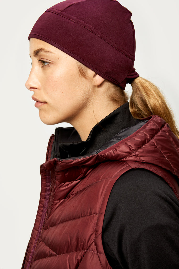 Lole Fleece Hat Beanie - Mulberry - SKULPT Dublin
