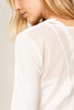 Lole Long Sleeved V Neck Top - White