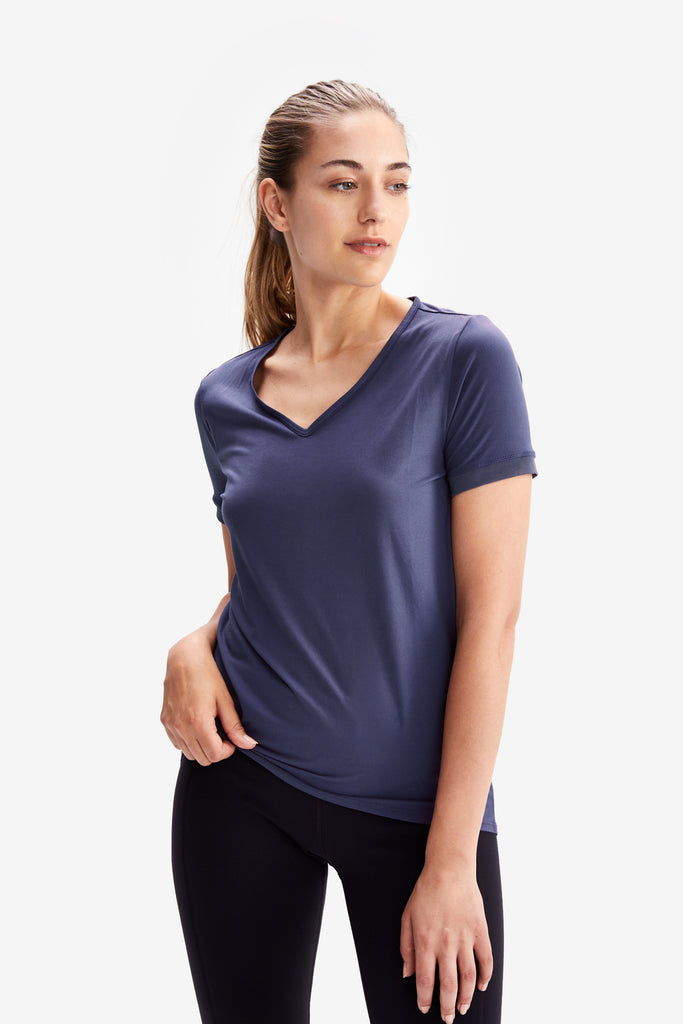 Lole Classic V Neck Short Sleeved - Purple - SKULPT Dublin