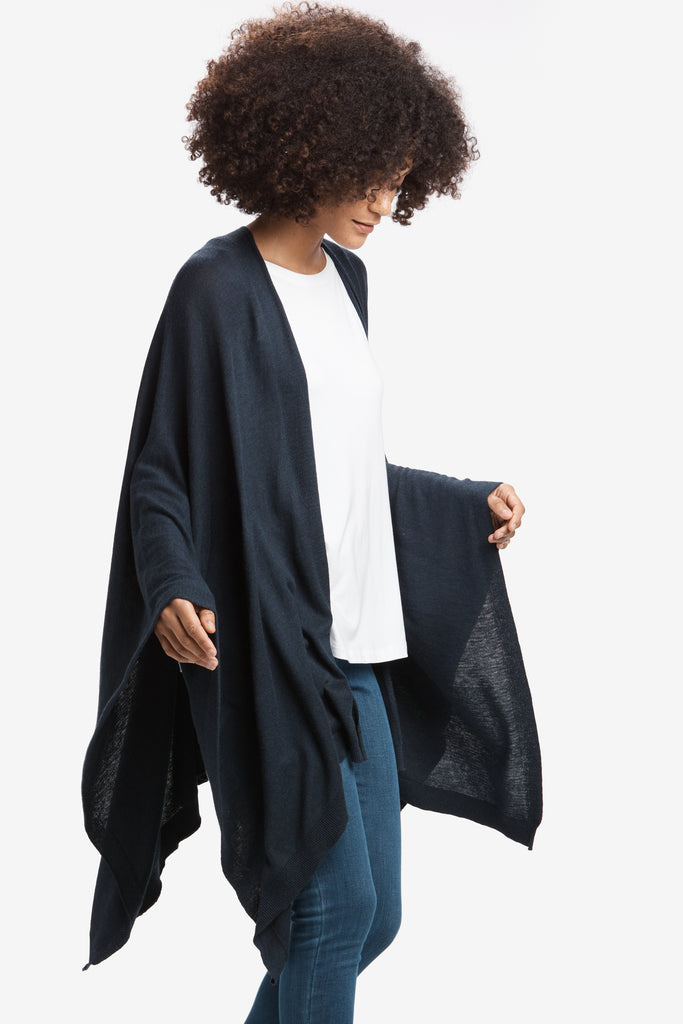 Lole Wrap Jacket with carry pouch - Petrol Blue - SKULPT Dublin