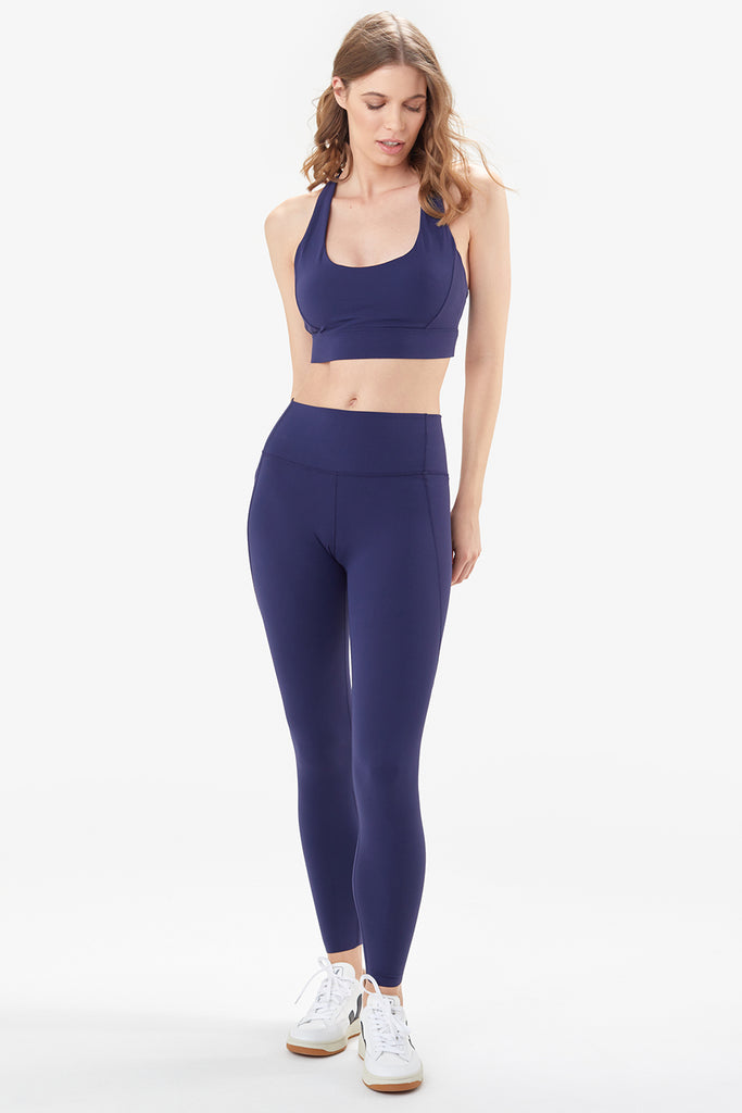Lole High Rise Leggings with side pocket - Navy - SKULPT Dublin