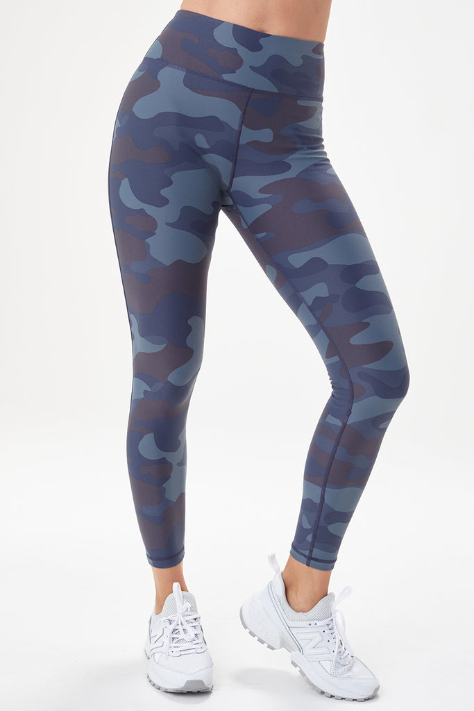 Lole High Rise Leggings - Blue Camo - SKULPT Dublin